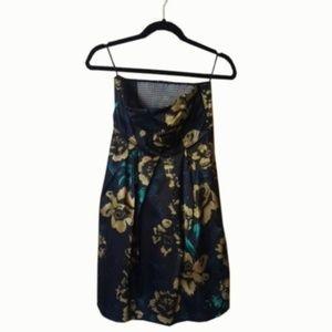 Guess Black Satin Strapless Dress